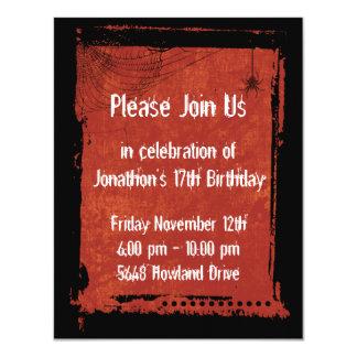 Invitaciones góticas del cumpleaños del Grunge del Comunicados