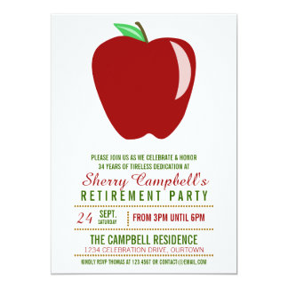 Invitaciones grandes del fiesta de retiro del anuncio personalizado