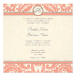 Invitaciones grises del boda del damasco del Victo