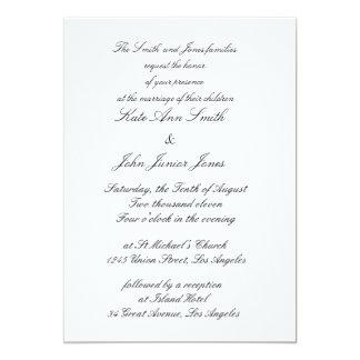 """Invitaciones grises terrosas rústicas del boda invitación 5"""" x 7"""""""