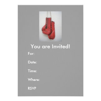 Invitaciones guantes de boxeo