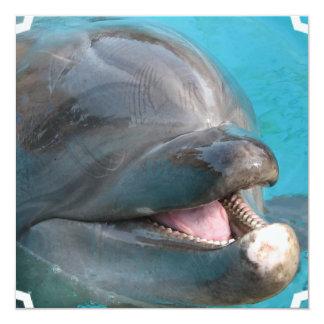 Invitaciones habladoras del delfín invitación 13,3 cm x 13,3cm