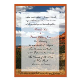 Invitaciones hacia fuera del oeste del boda comunicado