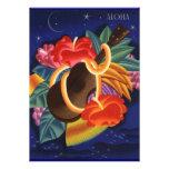 Invitaciones hawaianas de Luau de la hawaiana del  Invitacion Personal