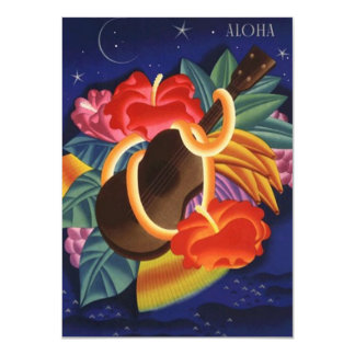 """Invitaciones hawaianas de Luau de la hawaiana del Invitación 4.5"""" X 6.25"""""""