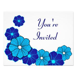 Invitaciones hawaianas retras comunicados