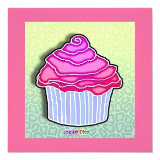 INVITACIONES heladas fresa rosada de la MAGDALENA Invitación 13,3 Cm X 13,3cm
