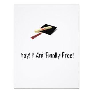 """Invitaciones honestas de la graduación invitación 4.25"""" x 5.5"""""""