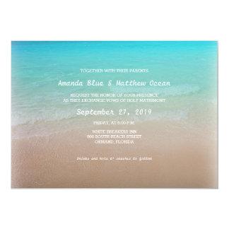 """Invitaciones horizontales del boda del océano de invitación 5"""" x 7"""""""