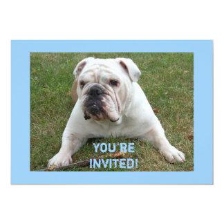 """Invitaciones inglesas del cumpleaños del dogo invitación 5"""" x 7"""""""