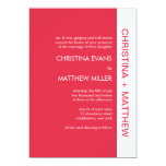 Invitaciones intrépidas del boda del color - rojo invitación 12,7 x 17,8 cm