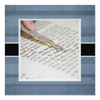 Invitaciones/invitaciones de Mitzvah de la barra Invitación 13,3 Cm X 13,3cm