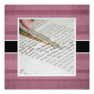 Invitaciones/invitaciones de Mitzvah del palo Invitación 13,3 Cm X 13,3cm