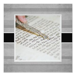 """Invitaciones/invitaciones de Mitzvah del palo Invitación 5.25"""" X 5.25"""""""