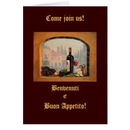 Invitaciones italianas felicitaciones