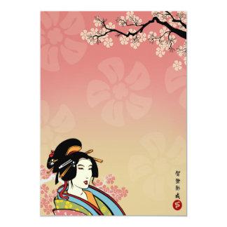 Invitaciones japonesas invitación 12,7 x 17,8 cm