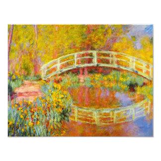 """Invitaciones japonesas del puente de Monet Invitación 4.25"""" X 5.5"""""""