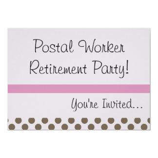 Invitaciones jubiladas USPS del fiesta de empleado Invitación 12,7 X 17,8 Cm