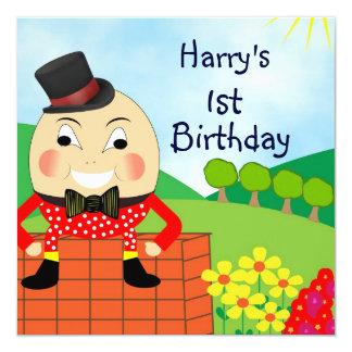 """Invitaciones lindas de Humpty Dumpty Invitación 5.25"""" X 5.25"""""""