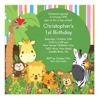Invitaciones lindas de la fiesta de cumpleaños de anuncios personalizados