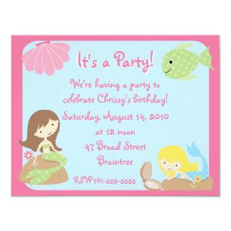 Invitaciones lindas de la fiesta de cumpleaños de comunicado personalizado