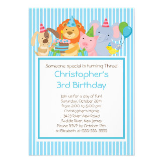 Invitaciones lindas de la fiesta de cumpleaños de anuncio personalizado