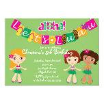 Invitaciones lindas de la fiesta de cumpleaños de invitación 12,7 x 17,8 cm