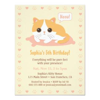 """Invitaciones lindas de la fiesta de cumpleaños de invitación 4.25"""" x 5.5"""""""