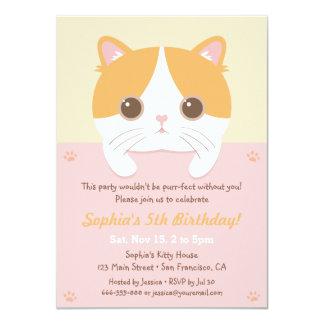 """Invitaciones lindas de la fiesta de cumpleaños de invitación 4.5"""" x 6.25"""""""