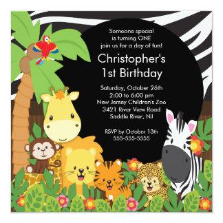 """Invitaciones lindas de la fiesta de cumpleaños de invitación 5.25"""" x 5.25"""""""