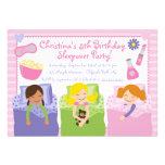 Invitaciones lindas de la fiesta de cumpleaños del invitación