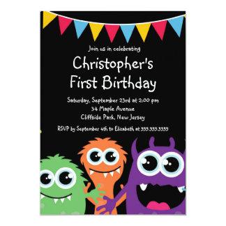 Invitaciones lindas de la fiesta de cumpleaños del comunicado personalizado