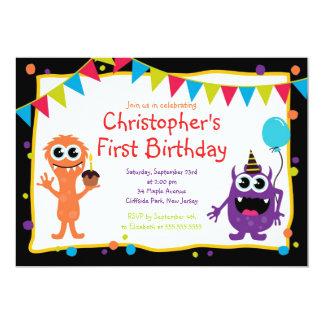 Invitaciones lindas de la fiesta de cumpleaños del invitacion personalizada