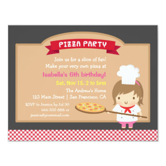 """Invitaciones lindas de la fiesta de cumpleaños del invitación 4.25"""" x 5.5"""""""