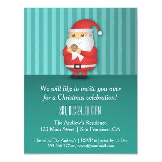 """Invitaciones lindas de la fiesta de Navidad de Invitación 4.25"""" X 5.5"""""""