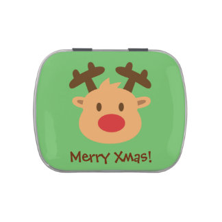 Invitaciones lindas de la fiesta de Navidad del Frascos De Caramelos