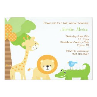 """Invitaciones lindas del animal de la selva invitación 5"""" x 7"""""""