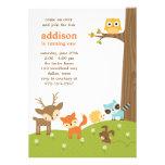 Invitaciones lindas del animal del arbolado