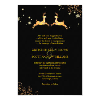 Invitaciones lindas del boda del invierno de los invitación 12,7 x 17,8 cm