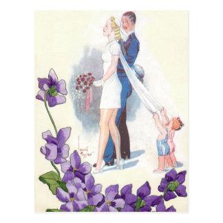 Invitaciones lindas del boda del presupuesto tarjeta postal