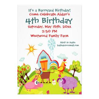 Invitaciones lindas del cumpleaños de los animales anuncio