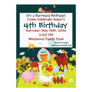 Invitaciones lindas del cumpleaños de los animales comunicados
