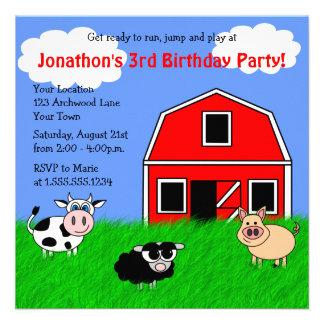 Invitaciones lindas del cumpleaños de los niños de comunicado personal