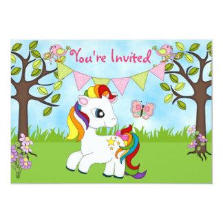 """Invitaciones lindas del cumpleaños del caballo del invitación 5"""" x 7"""""""