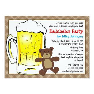 """Invitaciones lindas del fiesta de Dadchelor - Invitación 5.5"""" X 7.5"""""""