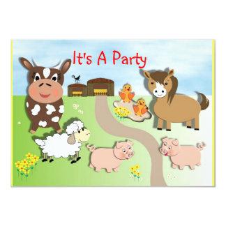 """Invitaciones lindas del fiesta de los niños de la invitación 4.5"""" x 6.25"""""""