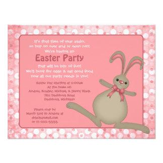 Invitaciones lindas del fiesta de Pascua del conej Comunicado Personal