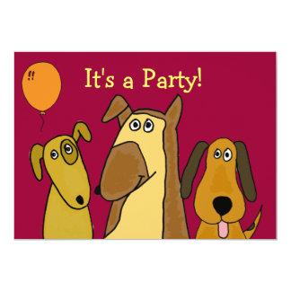 Invitaciones lindas del fiesta del perro de invitación 12,7 x 17,8 cm