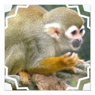 Invitaciones lindas del mono de ardilla invitación 13,3 cm x 13,3cm