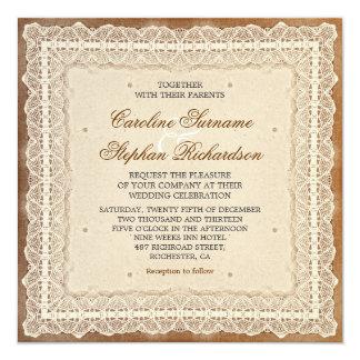 invitaciones llevadas lamentables del boda del invitación 13,3 cm x 13,3cm